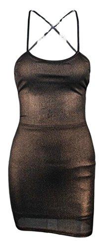 metallic colorblock bandage dress - 3