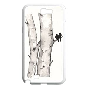 HXYHTY Diy Phone Case Watercolor Pattern Hard Case For Samsung Galaxy Note 2 N7100
