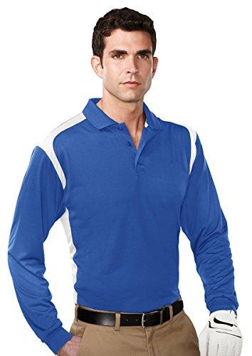 (Tri Mountain 6 oz Antimicrobial K145LS Blitz Long Sleeve Golf Shirt)