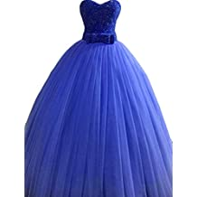 Ulbridal Luxury Beading Royal Blue Quinceanera Dresses Ball Gowns Vestidos Plus Size