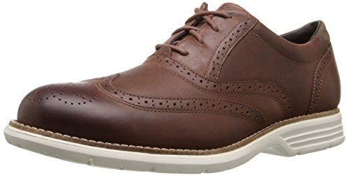 Total Leather (Rockport Men's Total Motion Fusion Wingtip Shoe- Tan-9 M)