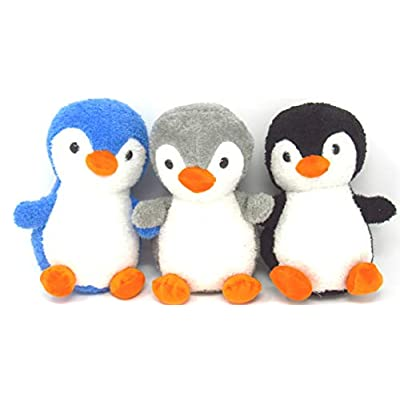 EC Outlets Stuffed Penguin Plush Animal Toy Soft Stuffed Animal Gifts, 3 Packs: Toys & Games