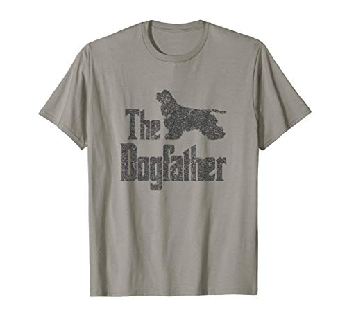 The Dogfather T-Shirt Cocker Spaniel, funny dog gift idea