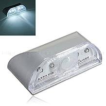 Sensor Lights,JARAGAR Keyhole Light Lamp PIR Infrared IR Wireless Auto Sensor Motion Detector 4 LED Light lamp Stick-on Anywhere Tap Lights LED Night Light for Key Hole/Door Lock(silver)