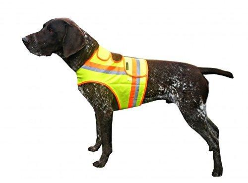 Hunde Warnweste mit Reflektionsstreifen gelb-orange alle Größen Dackel bis Drahthaar (XL)