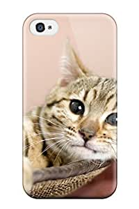 5880922K72348429 New Fashion Premium Tpu Case Cover For Iphone 4/4s - Cat In Basket