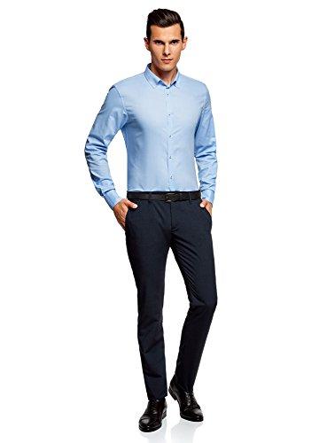 Oodji 7900n Pantaloni Ultra Blu Cintura Classici Uomo Con Br6n0Ba