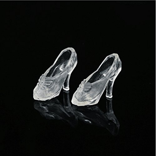 - elegantstunning Doll Shoes High Heels Fairytale Crystal Shoes 14Pcs/Set Transparent