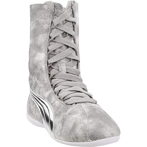PUMA Women's Eskiva Hi Metallic Silver High-Top Fashion Sneaker - ()