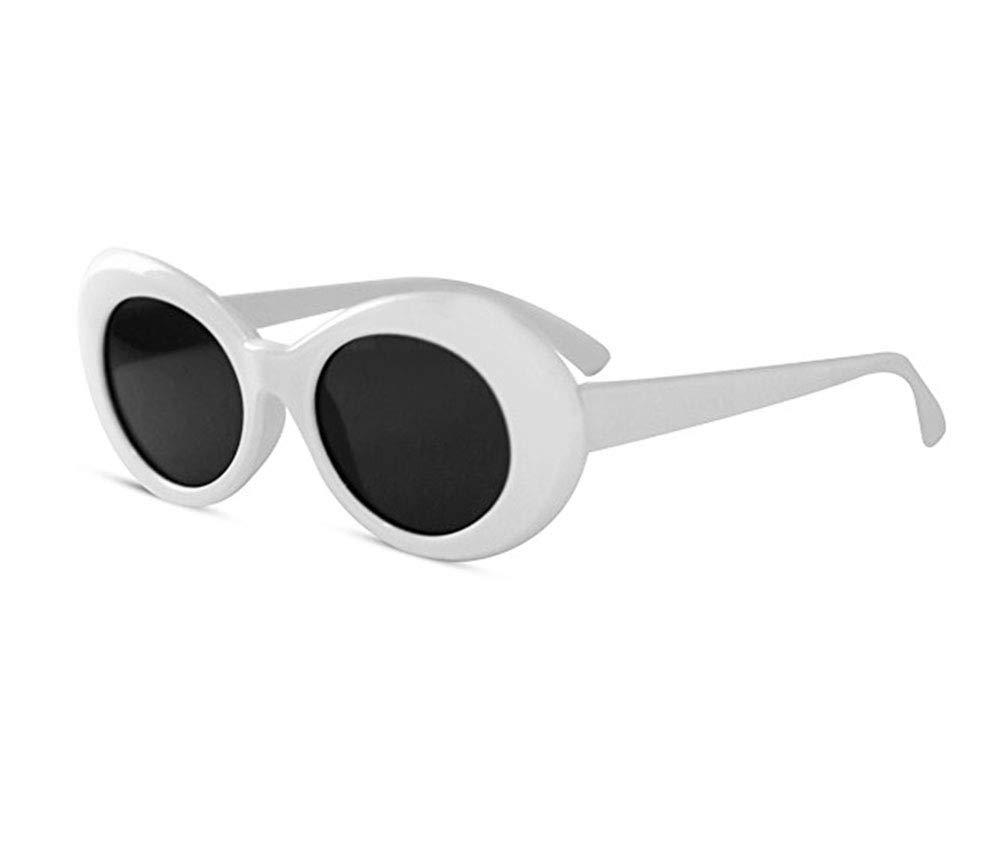 KGM Accessories Cool Nirvana Kurt Cobain Style Clout Sonnenbrille Wei/ß