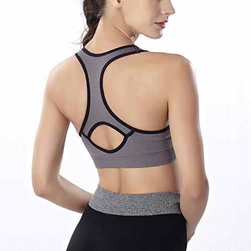 COCO TOE® Sujetador Deportivo de Sin Aros Para Mujer Gray