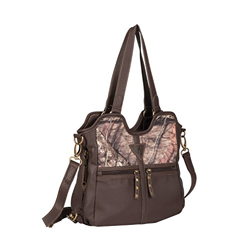 """Browning Carson Camouflage Concealed Carry Medium Handbag (Mossy Oak Country Camo, Brown, 10.5"""" x 12"""" x 4.5"""")"""