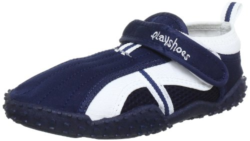 Playshoes Children's Aqua Beach Water Shoes (8.5 M US Toddler, Navy) by Playshoes (Image #1)