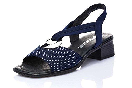 Remonte 14 navy Femmes silber R5953 silber Sandalettes Navy Bleu q8rHOnCqvw