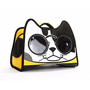 Catopia Premium Cat Smile Face Character Backpack Shoulder Hand Bag Travel Carrier for Pet Kitty, Cats, Dogs, Animal, Happiness, Lifestyle