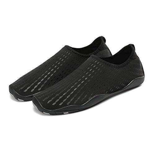 Foupler Heren Dames Mutifunctionele Sneldrogende Huid Waterschoenen Of Aqua Sokken Voor Zwemmen Yoga Strand Zwembad 2. Zwart