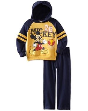 Disney Baby Boys 2 Piece Mickey Fleece Hoodie Set