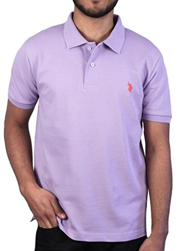 U.S. Polo Assn. Men's Solid Polo With Small Pony, Purple Sky, Size M