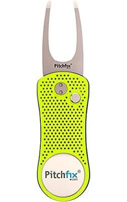 Pitchfix Hybrid Divot Tool (Fluorescent Yellow/Blue)