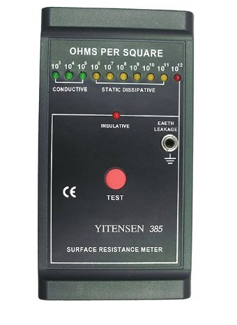 VICTOR 385 Professional Mini Portable Digital Surface Resistance Meter Tester 10 Level Accuracy ±0.5 Level Repetition ±5%