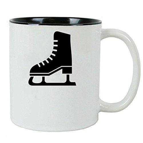Personalized Custom Ice Skates, Figure Skating 11 oz White Ceramic Coffee Mug with White Gift Box - Custom Skate