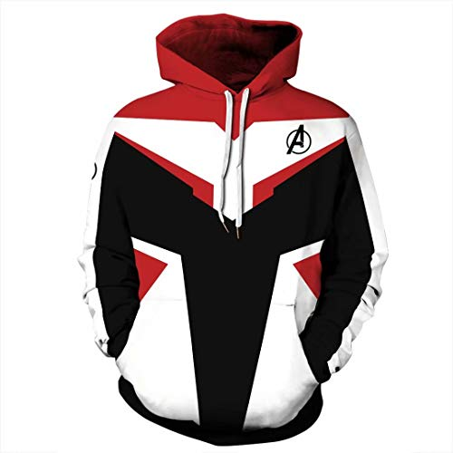 Tsyllyp Womens Mens Superhero Hoodies Fashion Endgame Quantum Realm Sweatshirt
