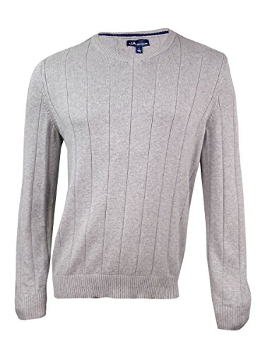 John Ashford Mens Ribbed Trim Long Sleeves Pullover Sweater