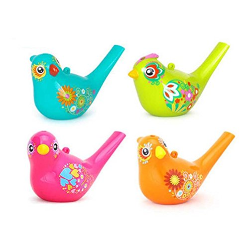 SODIAL Colored Drawing Water Bird Whistle Bathtime Musical Toy para Ninos Aprendizaje Temprano Educational Children Gift Toy Musical Instrument 149732