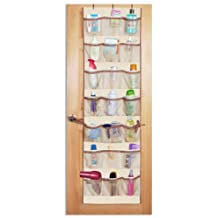 Pro-Mart DAZZ 42-Pocket Over-The-Door Organizer, Natural Canvas