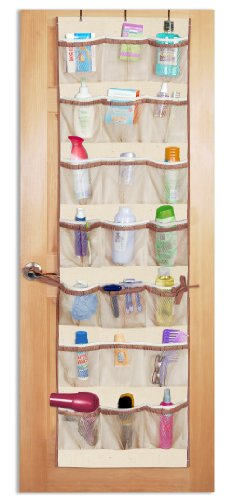 PRO-MART DAZZ 42 Pocket Over The Door Organizer, Natural Canvas