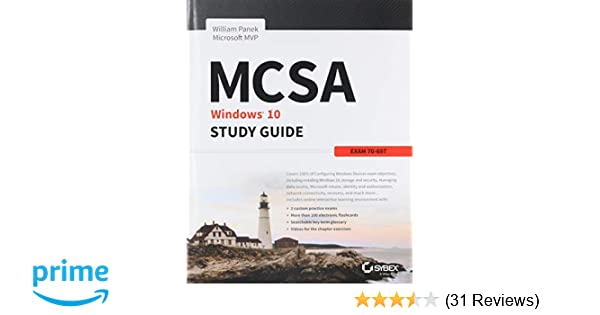 Amazon com: MCSA Microsoft Windows 10 Study Guide: Exam 70