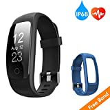 Runme Fitness Tracker with 24/7 Activity and Sleep Tracking, Heart Rate Monitor, 14 Sports Modes, IP67 Waterproof Level, Calls/ SMS Notification for Android and iOS