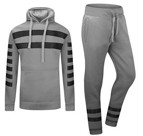 ALMAS APPAREL Mens Hip Hop New Biker Fleece Sweatsuit Track Suit Zipper 2 Piece Hoodie & Joggers (Small, - Shop Men Balmain