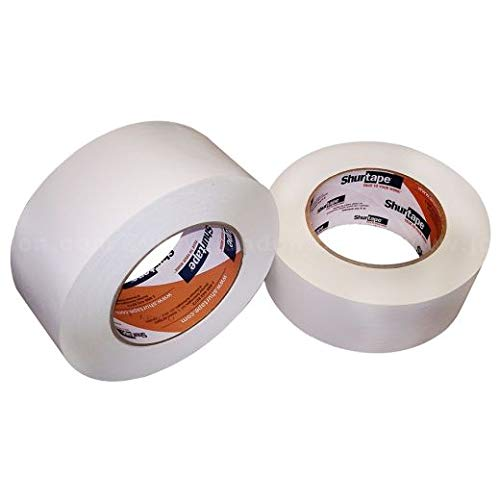 Shurtape White Paper Tape, FP227, 2 Inches x 60 Yards (8 Units)