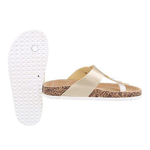 Ital-Design - Zapatos con tacón Mujer Gold JU-71