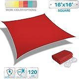 Patio Paradise 16' x 16' Waterproof Sun Shade Sail-Red Rectangle UV Block Durable Awning Canopy Outdoor Garden Backyard