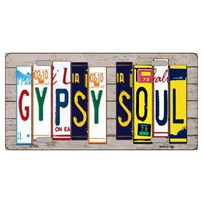 Smart Blonde LP-7943 Gypsy Soul Wood License Plate Art Novelty Metal License Plate: Automotive