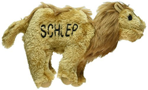 Copa Judaica Chewish Treat Schlep Camel Squeaker Plush Dog Toy, 7.5 by 2 by 6Inch, Brown by Copa Judaica