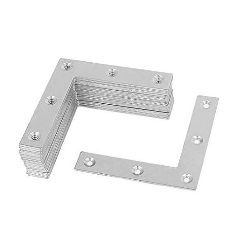 eDealMax 80 mm x 80 mm x 1, 5 mm de acero inoxidable en forma de L Soportes en ángulo de apoyo 30 PC - - Amazon.com