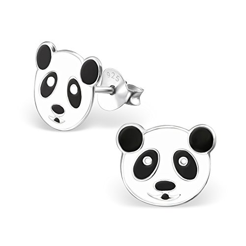 Hypoallergenic Panda Stud Earrings for Girls (Nickel Free and Safe for Sensitive Ears) by Atik Jewelry (Image #1)