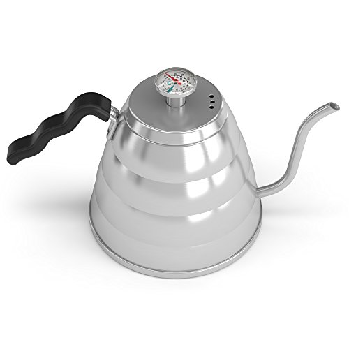 Coffee Gator Pour Over Kettle - Fixed Thermometer for Exact Temperature (40floz)