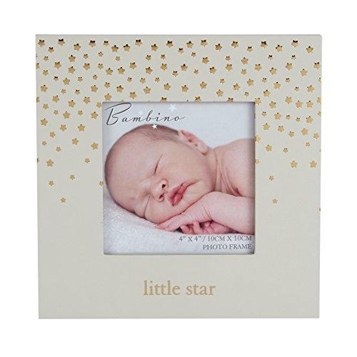 Oaktree Gifts Wooden Cream Little Star Photo Frame 4 x 4 -