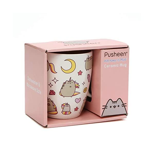 "Pusheen by Our Name is Mud ""Magical Pusheenicorn"" Stoneware Coffee Mug, 12 oz. 5"
