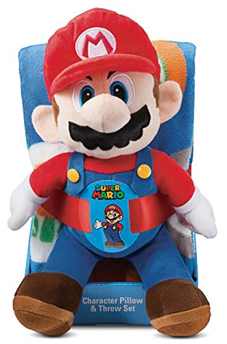"""Price comparison product image Mario Hat Toss 40"""" x 50"""" Throw Pillow & Blanket (2pc)"""