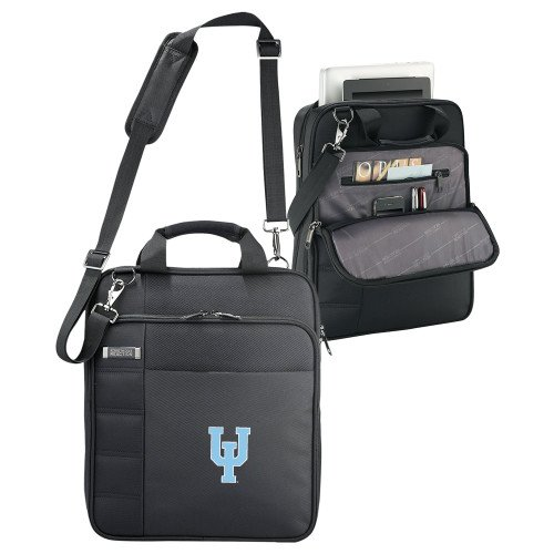 Upper Iowa Kenneth Cole Black Vertical Checkpoint Friendly Messenger 'Official Logo' by CollegeFanGear
