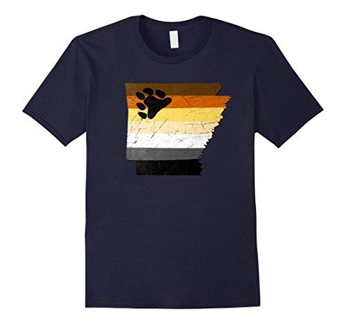 Men's Arkansas Gay Bear Pride Flag T-Shirt 2XL (Bear Pride Design)