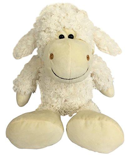 Checkered Fun Lamb Stuffed Animal - Stuffed Sheep - Plush Toys - Great For Sheep Theme Nursery Decor - Cute Fluffy White Sheep Plush Lamb (Seated Sheep)