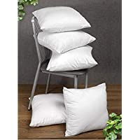 GNESHA Microfiber Cushion Filler (16x16-inches, White) - Set of 5