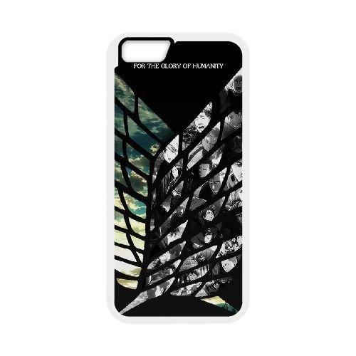 Attack On Titan coque iPhone 6 Plus 5.5 Inch Housse Blanc téléphone portable couverture de cas coque EBDOBCKCO14137