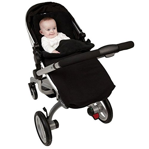 Clair de Lune All Seasons Pushchair Footmuff (Black) CL3153/BK